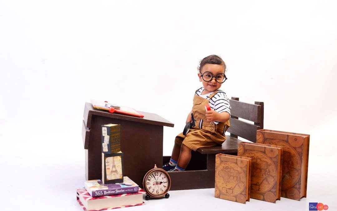 Studious Baby Boy Photoshoot